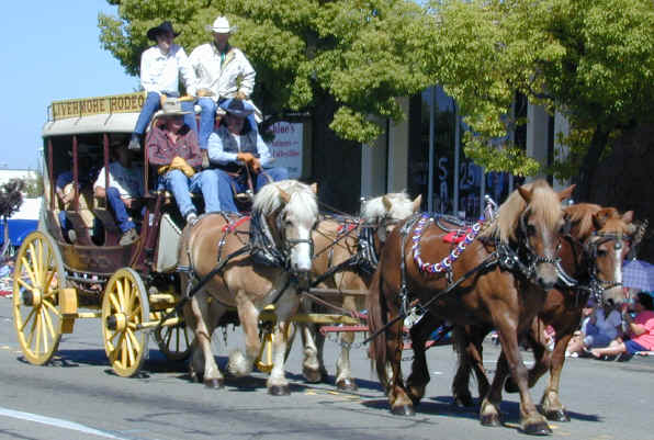 100th Annual Rodeo Parade Stagecoaches Horses Amp Marching